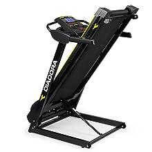 Diadora Fitness Edge Dark 2.4 Tapis Roulant, Motore 2 hp, Velocità 16 km/h