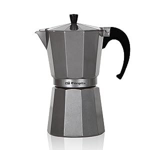Orbegozo KFS 920 920-Cafetera de Aluminio, 9 Tazas, Color, Plata