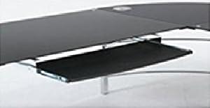 不二貿易 ガラスパソコンデスク L型