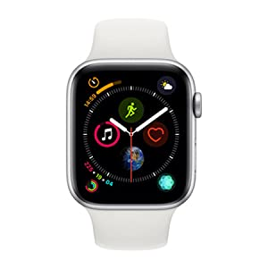 Apple Watch Series 4-40mm Space Silver Aluminum Case with White Sport Band, GPS, watchOS 5
