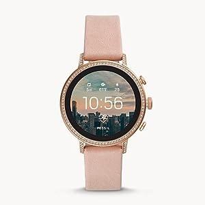 Fossil - Reloj Gen 4 Smartwatch con correa de cuero - FTW6015