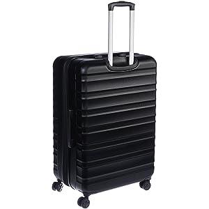 AmazonBasics - Valigia Trolley rigido con rotelle girevoli, 78 cm, Nero