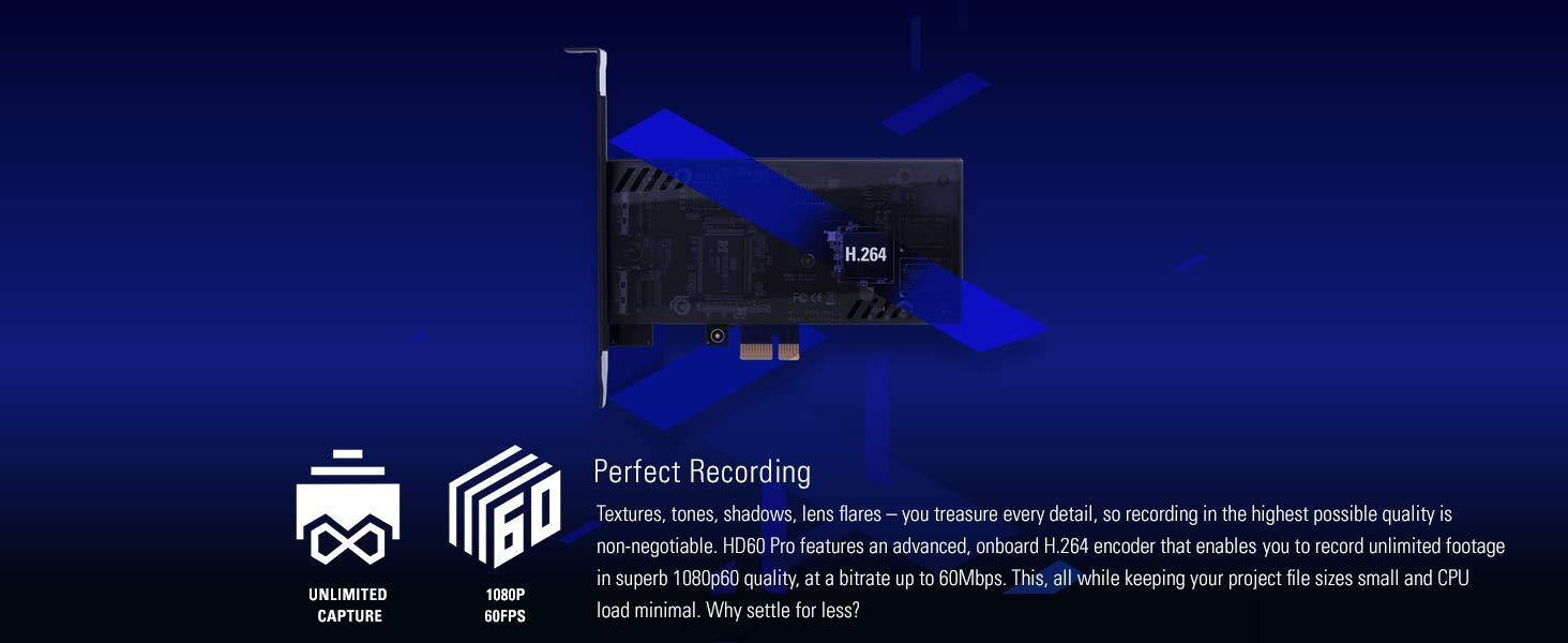 H.264 hardware encoding Elgato Game Capture HD60 Pro stream//record in 1080p60