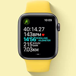 Apple Watch SE (GPS, 40mm) - Gold Aluminium Case with Pink Sand Sport Band:  Buy Online at Best Price in KSA - Souq is now Amazon.sa