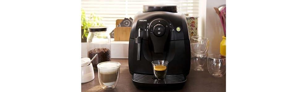 Macchina Caffe Automatica Philips con Macina caffè Grani Chicchi HD8651