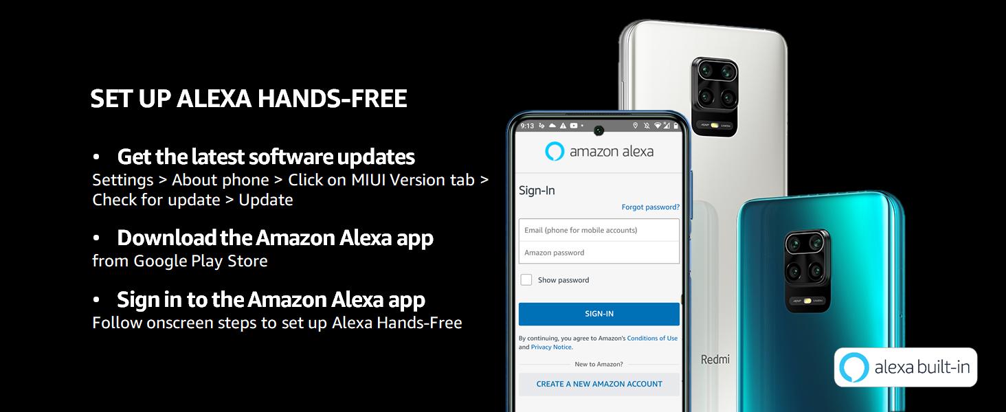 Set up Alexa Hands-Free