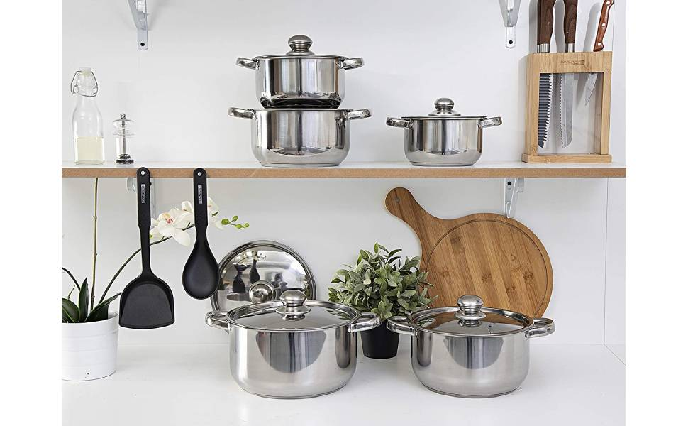 Royalford Cookware Set, Silver, Rf9352 Silver