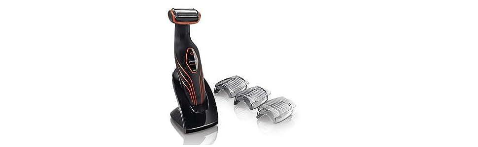 Philips BG2026/32 - Afeitadora corporal BodyGroom Serie 3000 sin cable, apta para uso en mojado, con tres peines guía y base de carga: Amazon.es: Salud y cuidado personal
