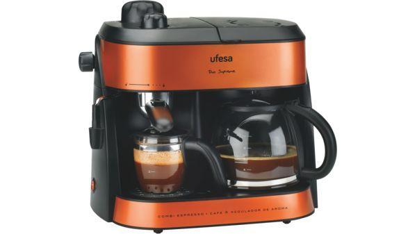Ufesa CK7355 Duo Supreme - Cafetera Express, Hidropresión y de Goteo, Vaporizador Orientable, Regulador de Aroma: Amazon.es: Hogar