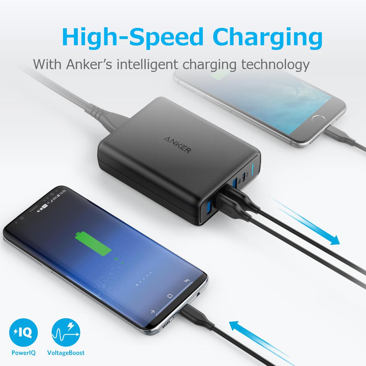iPhoneを2時間足らずでフル充電、5台同時充電可能な「Anker PowerPort I PD」が発売
