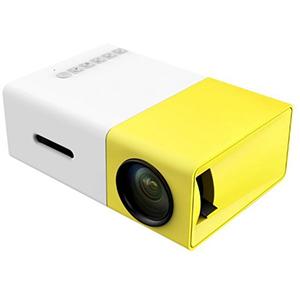 YG-300 LCD Mini Portable Projector with USB/SD/AV/HDMI Slots - Yellow