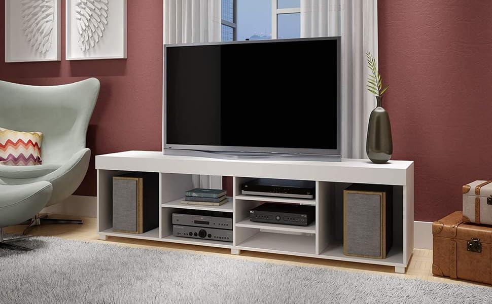 BRV BR251-06 Wooden TV Stand, Size: 50.5 cm*180 cm*39.5 cm, Color: White