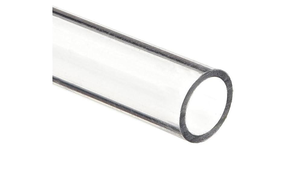 3//4 ID x 7//8 OD x 1//16 Wall Clear 48 Polycarbonate Rigid Round Tube