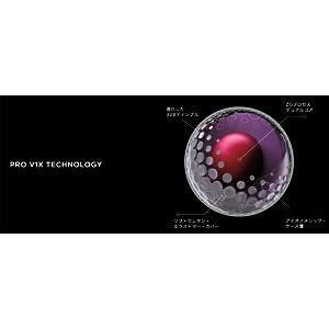 TITLEIST(タイトリスト) ゴルフボール Pro V1X 4ピース(ダブルナンバー) 12個入り ホワイト T2045S-LEJ ボール構造