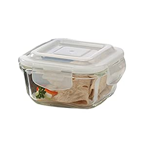 Borosil Microwavable Borosilicate Glass Klip N Store Tiffin Box