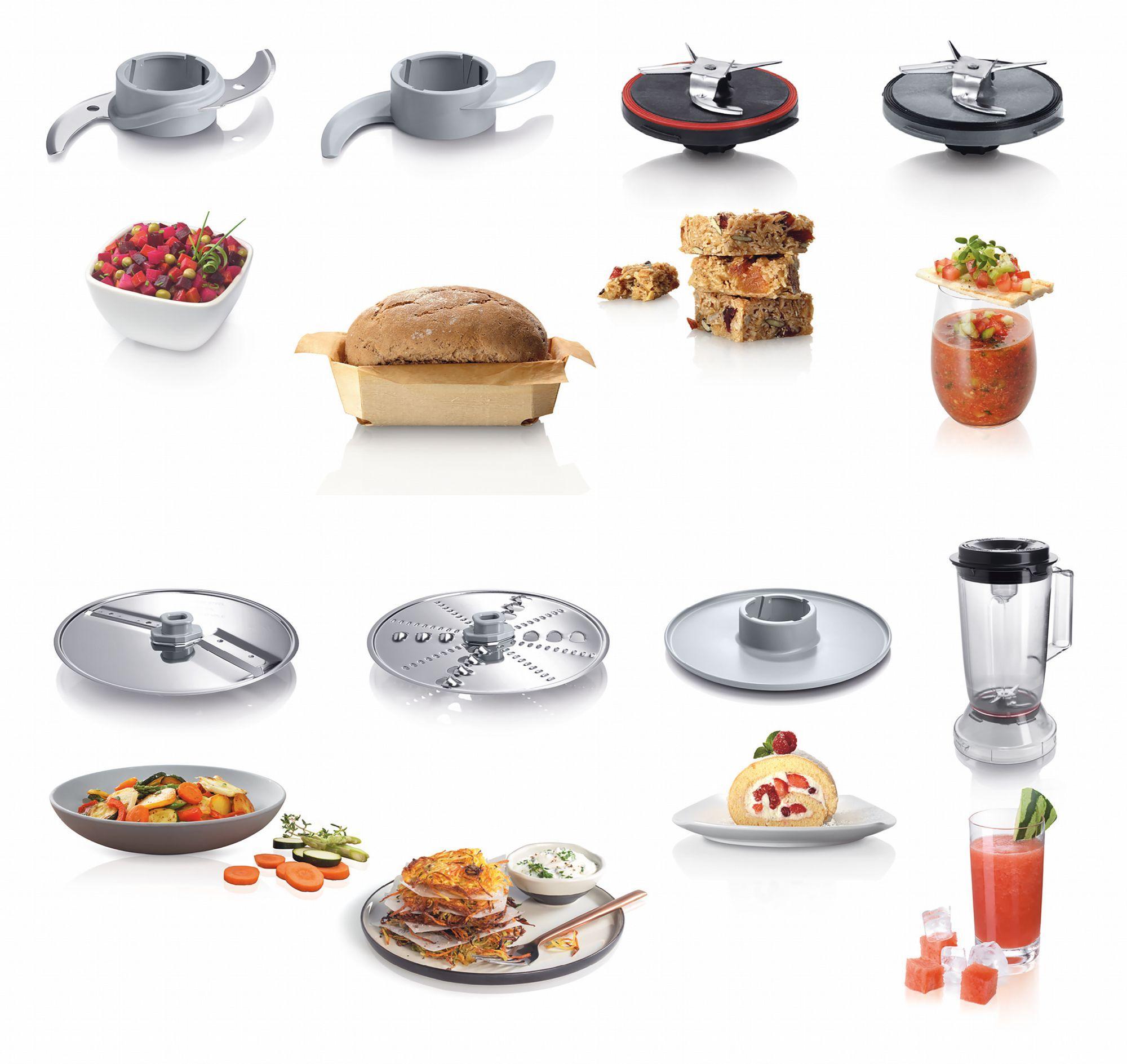 Bosch mcm3501m robot da cucina compatto nero argento - Robot da cucina compatto ...
