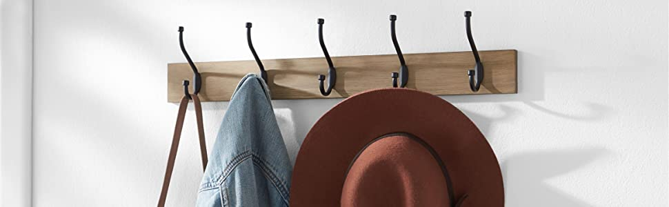 AmazonBasics Wall Mounted Coat Racks