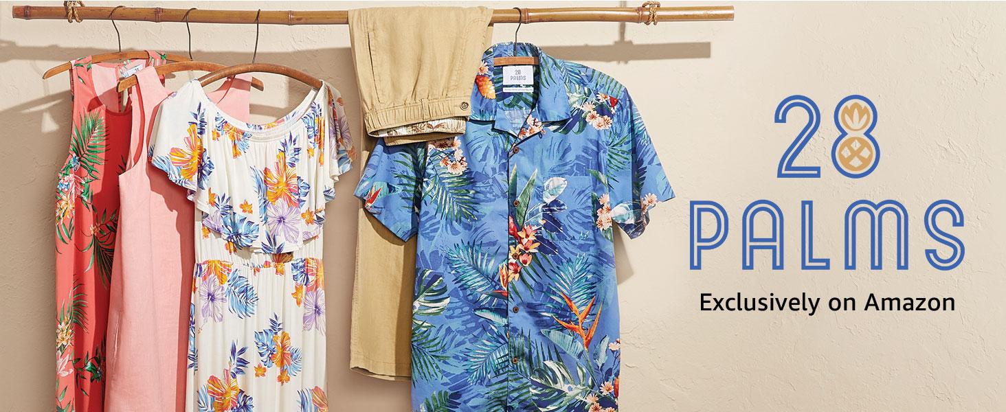 28 Palms fashion-swim-trunks Uomo 4.5 Inseam Tropical Hawaiian Print Swim Trunk Marchio
