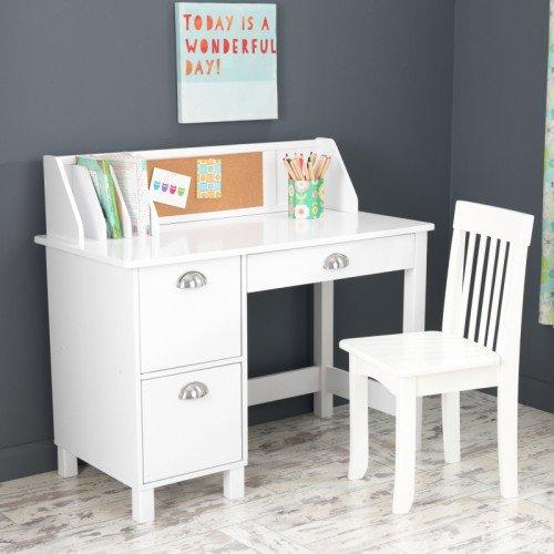KidKraft Study Desk with Drawers. Amazon com  KidKraft Kids Study Desk with Chair White  Toys   Games
