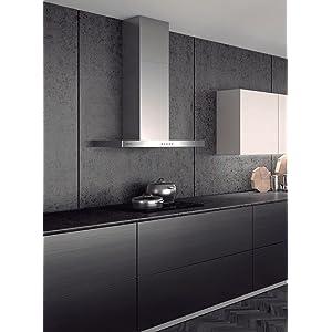 Mepamsa Silueta 70 - Campana aspirante decorativa de pared de inox: 141.23: Amazon.es: Grandes electrodomésticos