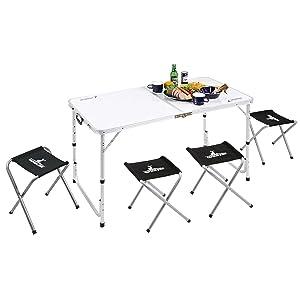 キャプテンスタッグ BBQ用 机 椅子 ラフォーレ テーブル チェア セット 4人用UC-4