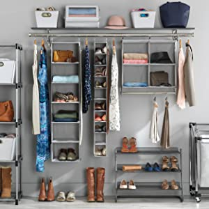 Amazon whitmor double closet rod heavy duty closet organizer organization storage closet laundry shoes garment amazonbasics seville stopboris Gallery