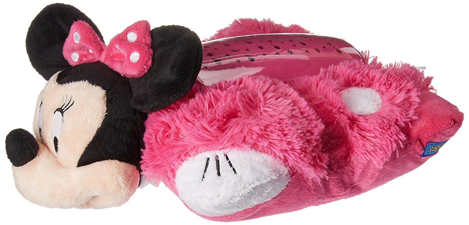 disney pillow pets dream lites minnie mouse stuffed animal plush toy toys games. Black Bedroom Furniture Sets. Home Design Ideas