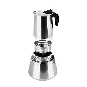 Cafetera italiana inox ORBEGOZO KFI960 | ORBEGOZO 9 tazas Induccion Vitro Gas Electrico: Amazon.es: Hogar
