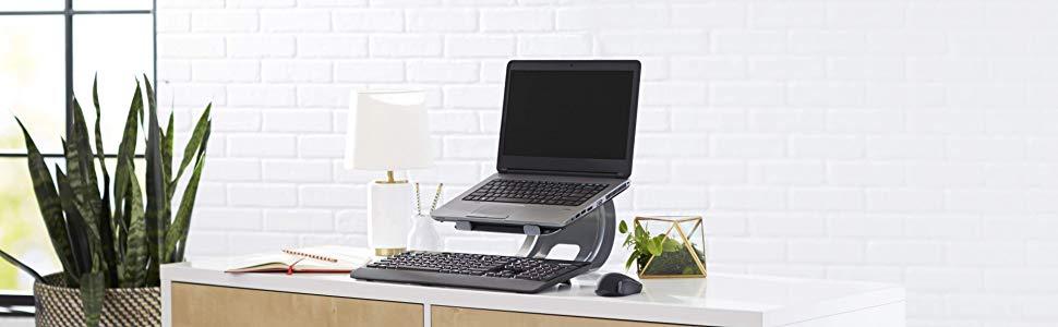 AmazonBasics - Mesa tipo bandeja para portátil, apta para ...