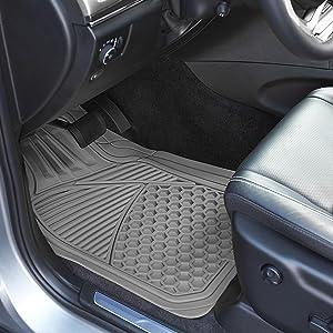 Peachy Amazonbasics 4 Piece Heavy Duty Rubber Car Floor Mat Grey Evergreenethics Interior Chair Design Evergreenethicsorg
