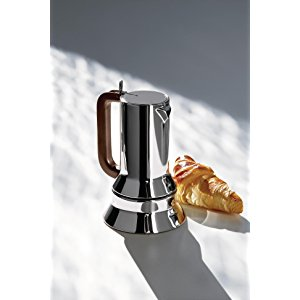 Alessi 9090/1 - Cafetera Italiana de Acero Inoxidable Brillo 18/10