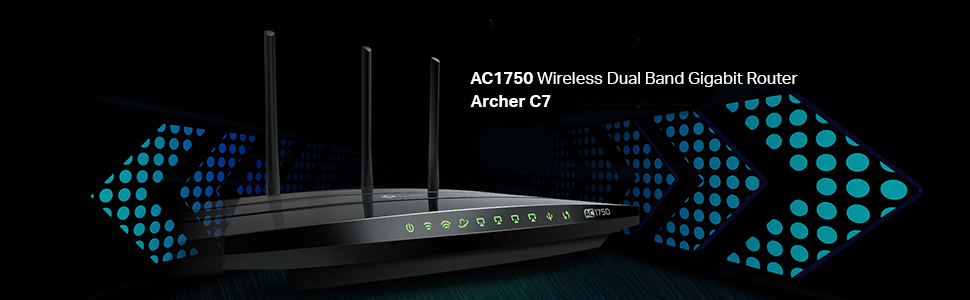 Image result for ac1750 wireless dual band gigabit router archer c7