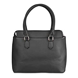 Rich and Famous Tote Bags For Women, Leather, Black