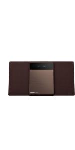 パナソニック ミニコンポ FM/AM 2バンド Bluetooth対応 4GBメモリー内蔵 ブラウン SC-HC410-T