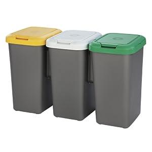 Tontarelli - 75l adjunta Reciclado Reciclaje plástico papeleras ...