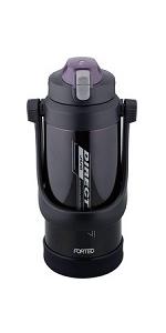 和平フレイズ 水筒 ワンタッチ栓ダイレクトジャグ 2.0L フォルテック・スピード ブラック FSR-7377