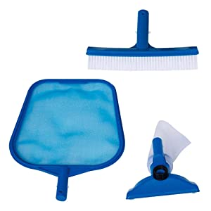 Intex - Kit de limpieza recoge hojas, cepillo y cabezal