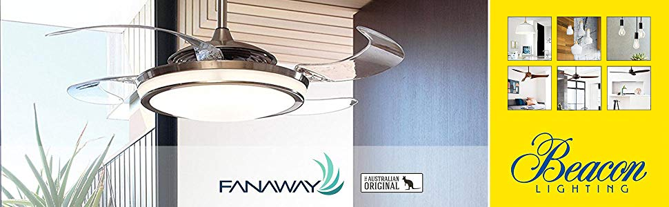 Fanaway Ventilador de Techo LED, Blanco: Amazon.es: Iluminación