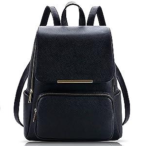 black backpack, women's backpack, travel backpack, stylish backpack