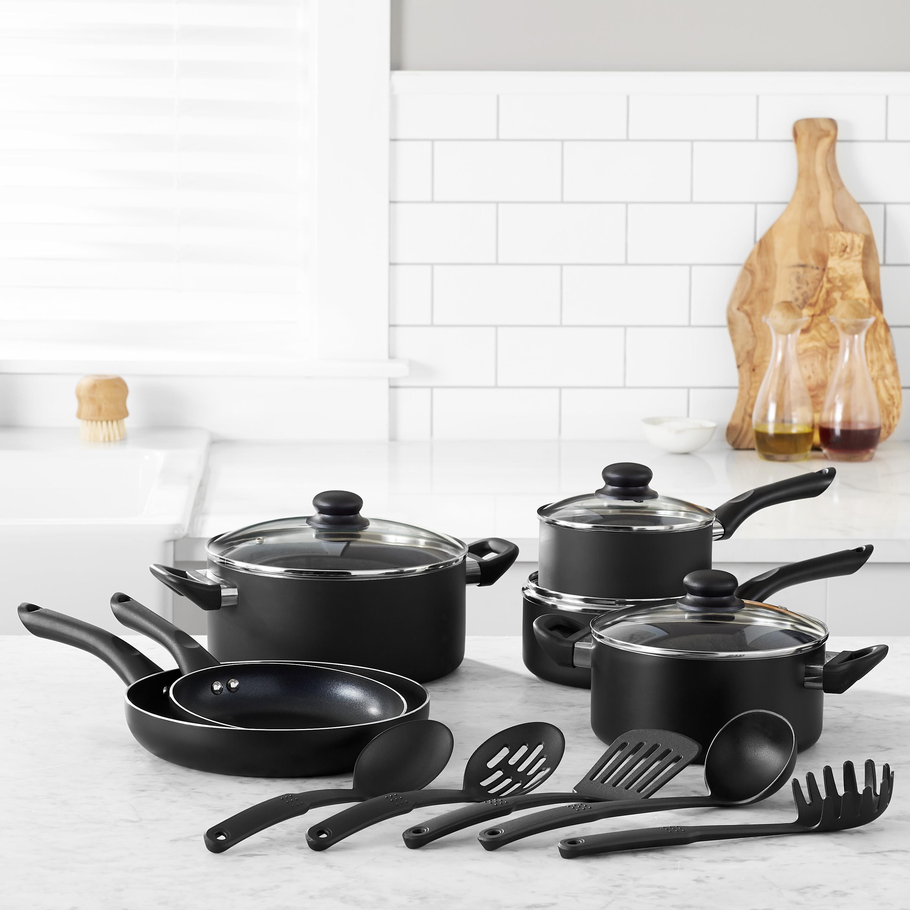 Amazon Com Amazonbasics Non Stick Cookware Set Pots