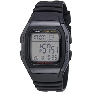 Casio Men's Quartz Watch, Digital Display and Resin Strap W96H-1B