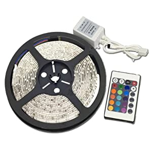 Low Price Waterproof RGB Remote Control Color Changing LED Strip Light