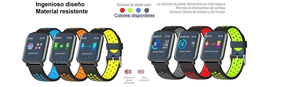 Leotec LESW14DG Multisport Helse-Smartwatch, Color Verde: Amazon ...
