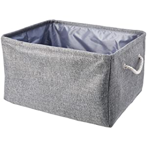 AmazonBasics Storage Basket with Handles and Drawstring Closure (2-Pack)