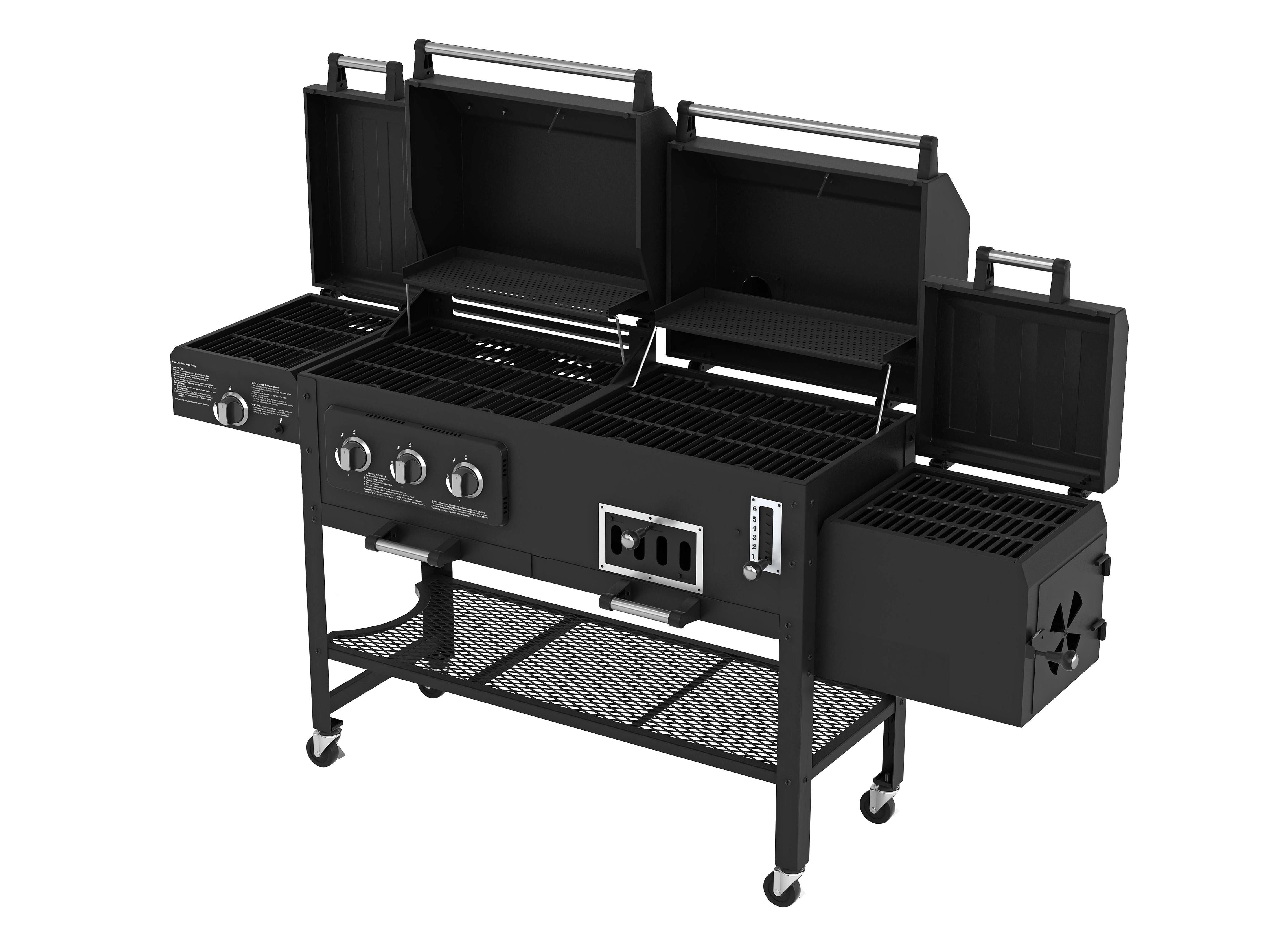 Smoke Hollow 8500 LP Gas/Charcoal Grill with Firebox ...