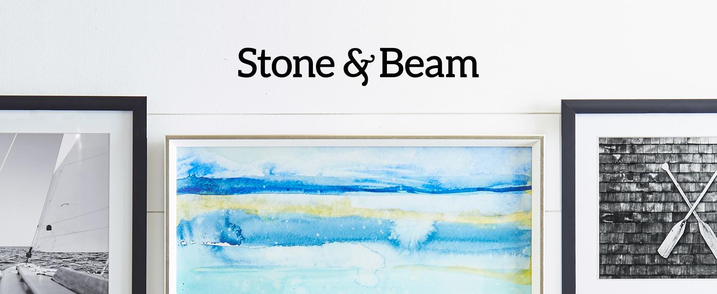 Stone and Beam, home furnishings, farmhouse, modern, metal, wall art, print, canvas, framed, pot