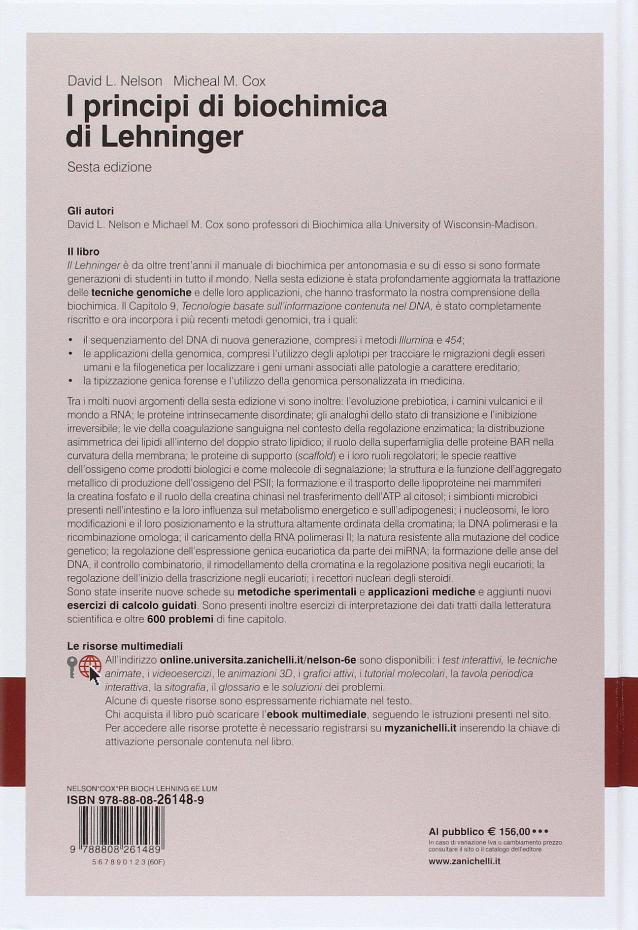 Lehninger principi di biochimica online dating. Lehninger principi di biochimica online dating.