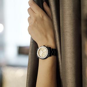 JBW Laurel Watch for Women, Stainless Steel, 9 Diamonds, J6330E