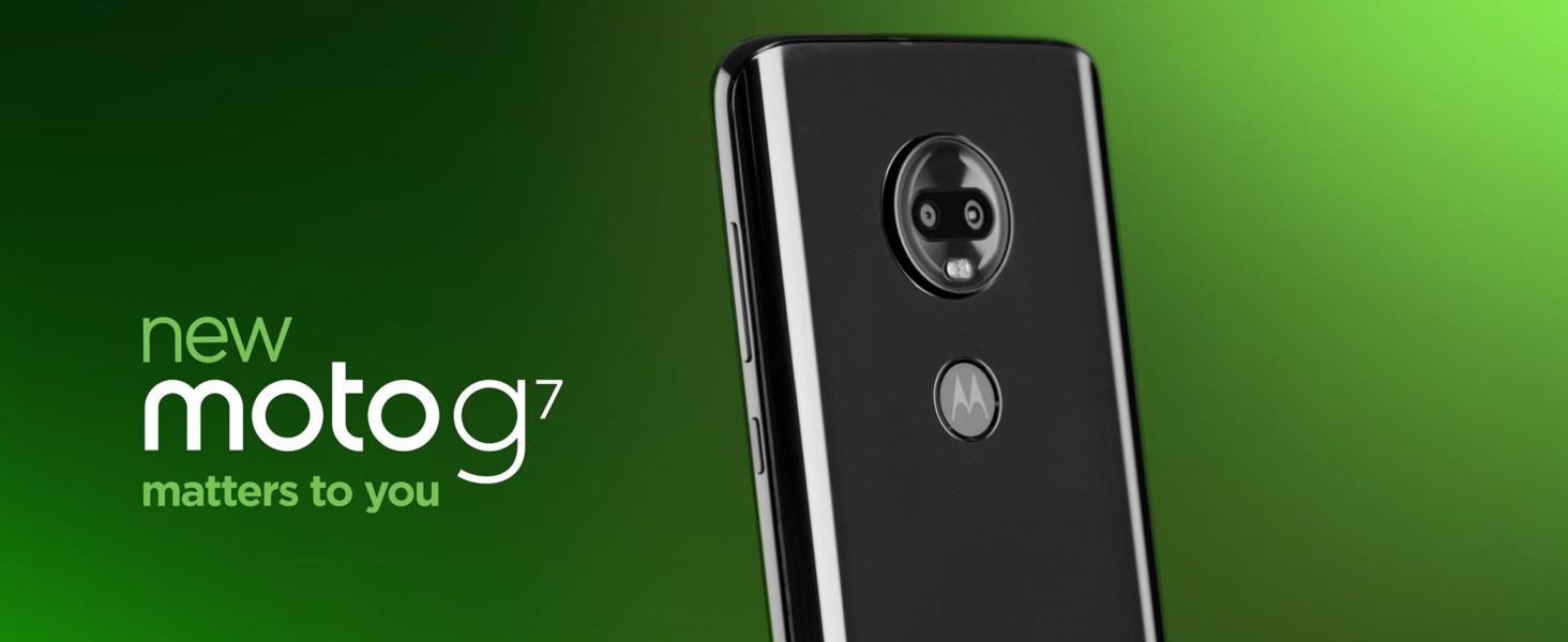 708771a447e0 Amazon.com  Moto G7 with Alexa Hands-Free – Unlocked – 64 GB – Ceramic  Black  Cell Phones   Accessories