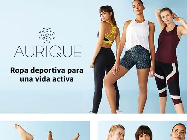 AURIQUE Leggings de Deporte con Estampado /Óptico Mujer Marca